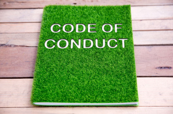 code-of-conduct-book-with-grass-cover