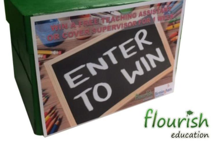 Flourish Education raffle box